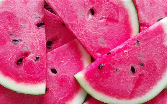 Wallpaper Sliced watermelon, summer juicy fruit