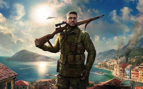 Wallpaper Sniper Elite 4, Xbox game