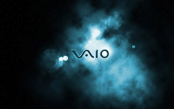 Wallpaper Sony Vaio logo, space background