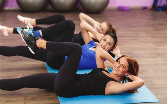 Wallpaper Sports girls, fitness, workout, legs