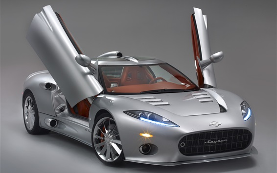 Обои Spyker C8 Aileron суперкар, открылись двери