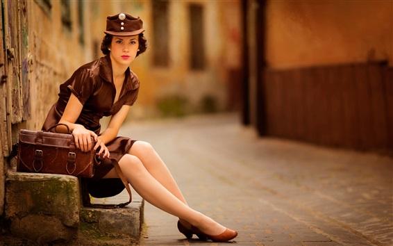 Wallpaper Street girl, retro style