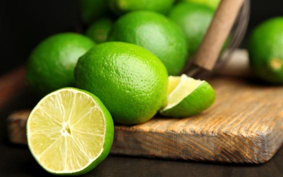 Wallpaper Summer fruits, green lime citrus