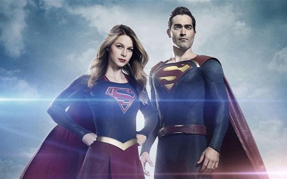 Fondos de pantalla Supergirl y Superman, series de televisión
