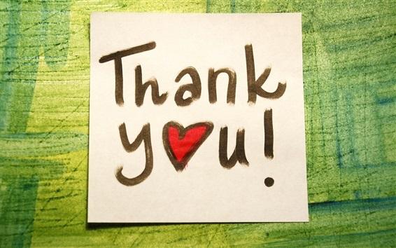 桌布 謝謝你,寫在紙上,愛的心