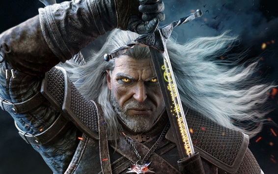 Wallpaper The Witcher 3, PS4 game