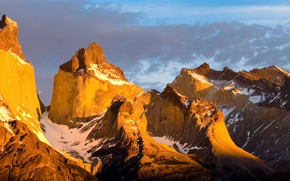Wallpaper Torres del Paine National Park, Chilean Patagonia, mountains