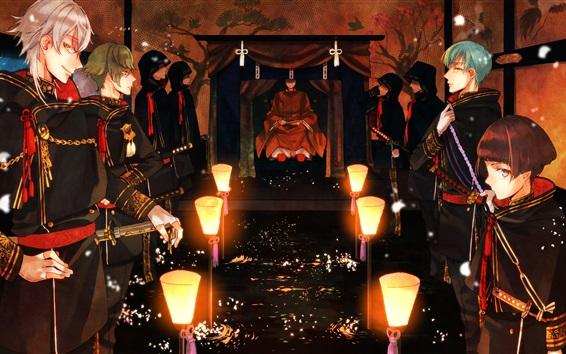 Fond d'écran Touken Ranbu jeu en ligne HD
