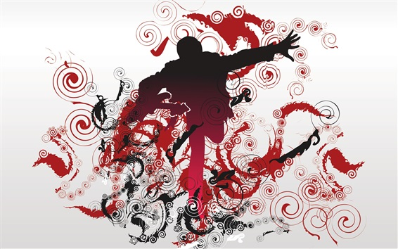 Wallpaper Vector design, guy, music, spiral