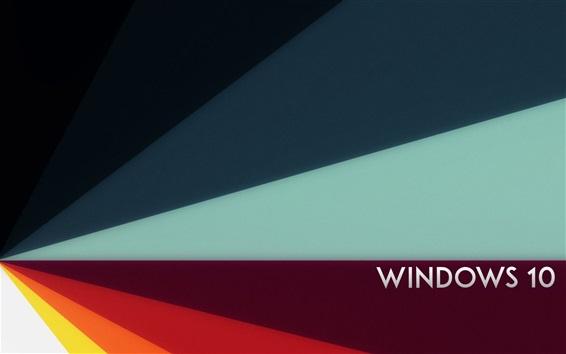 Fond d'écran Windows 10, fond abstrait