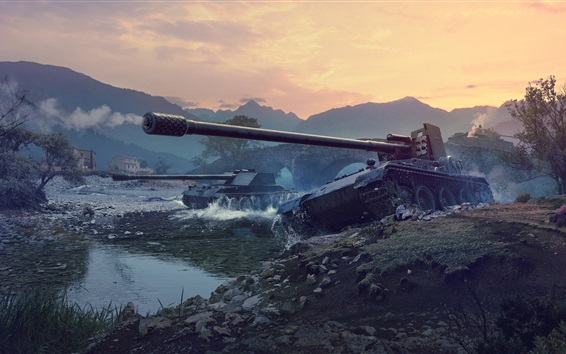 Fond d'écran World of Tanks, jeux PS4