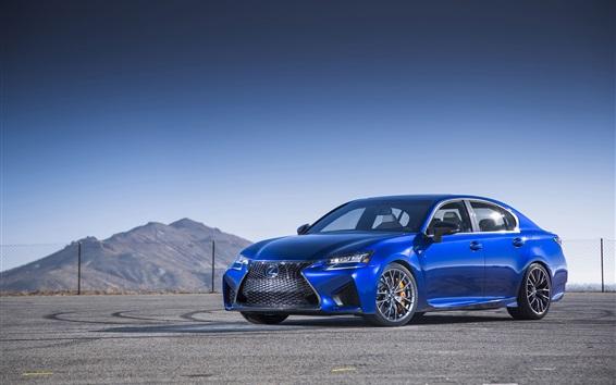 Wallpaper 2016 Lexus GS F blue car