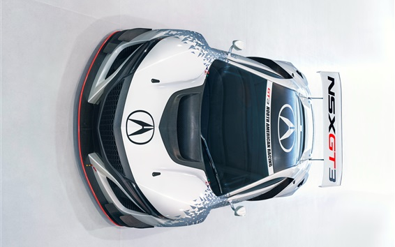 Wallpaper Acura NSX GT3 supercar front top view