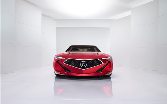 Wallpaper Acura Precision Concept red car front view