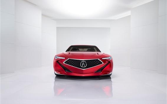 Обои красный автомобиль вид спереди Acura Precision Concept