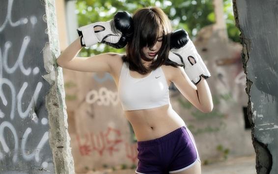 Wallpaper Asian sport girl