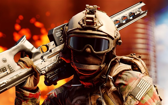 Wallpaper Battlefield 1, sniper, 2016 game