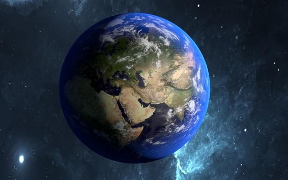 Wallpaper Beautiful blue planet, Earth