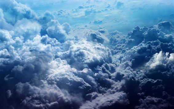 Fond d'écran Beau ciel, nuages épais