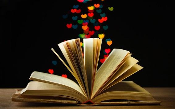 Обои Книга открылась, любовь сердца