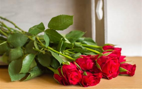 Hintergrundbilder Blumenstrauß aus roten Rosenblüten