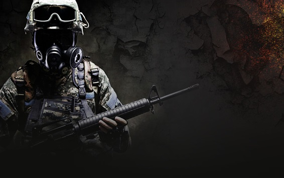 Wallpaper CS: GO, soldier