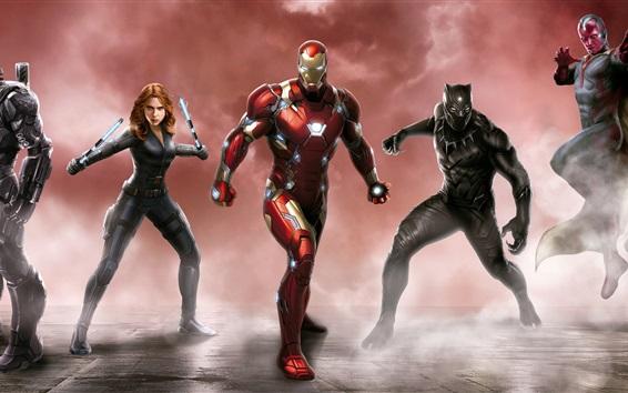 Wallpaper Captain America: Civil War, Marvel super heroes