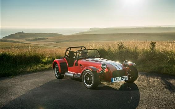 Wallpaper Caterham Seven 310R red sport car