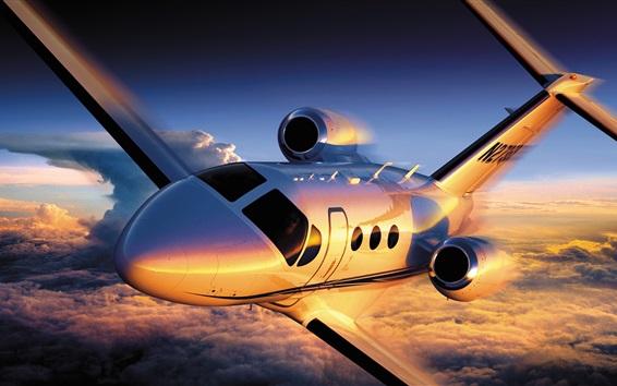 Wallpaper Cessna Citation 4 airplane flight