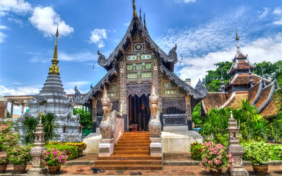 Wallpaper Chiang Mai temple in Thailand