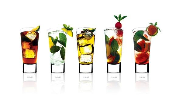 Wallpaper Cocktails, five cups drinks