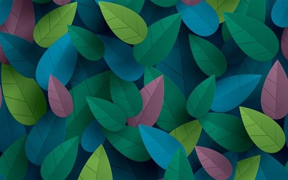 Fond d'écran Feuilles colorées, conception d'art