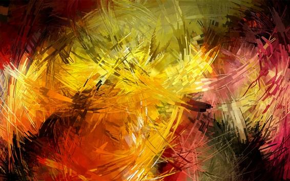 Fond d'écran lignes colorées, accidents vasculaires cérébraux, des images abstraites