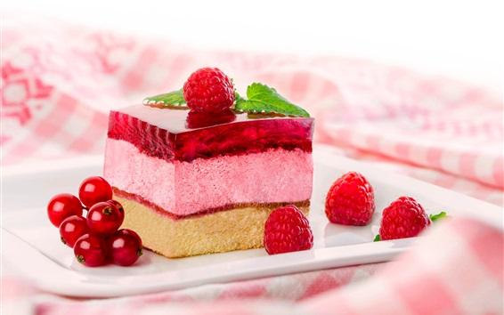 Wallpaper Dessert, cake, berries