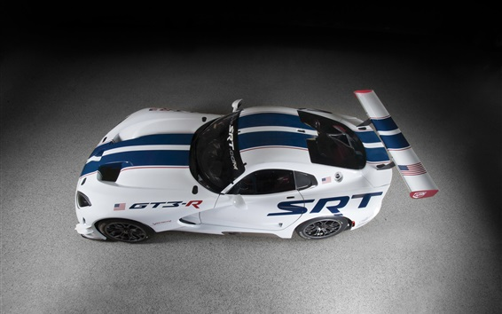 Wallpaper Dodge SRT Viper GT3-R race car top view