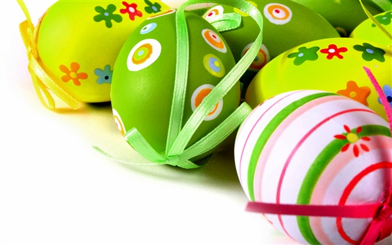 Wallpaper Easter eggs, colorful, decoration, spring
