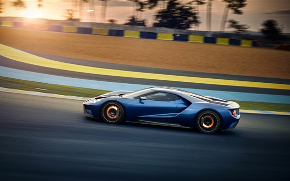 Wallpaper Ford GT 2017 supercar high speed