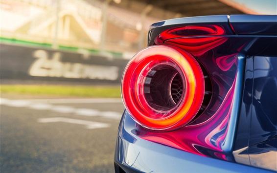 Wallpaper Ford GT II supercar brake light close-up