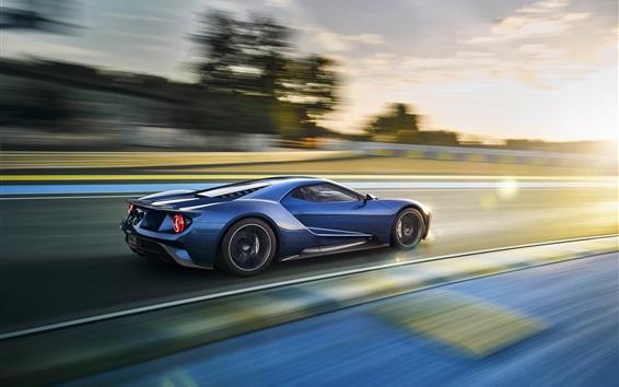 Обои Ford GT суперкара на высокой скорости