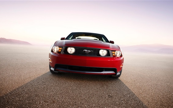 Wallpaper Ford Mustang GT 2010 red car front view