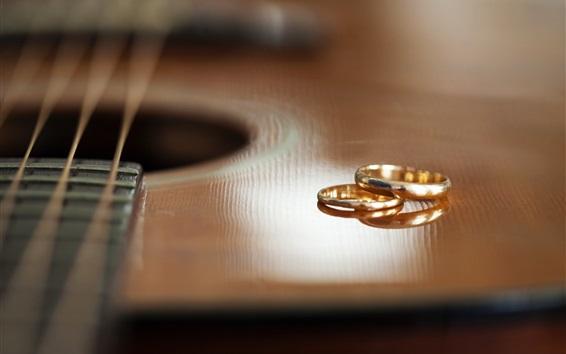 Wallpaper Guitar and rings