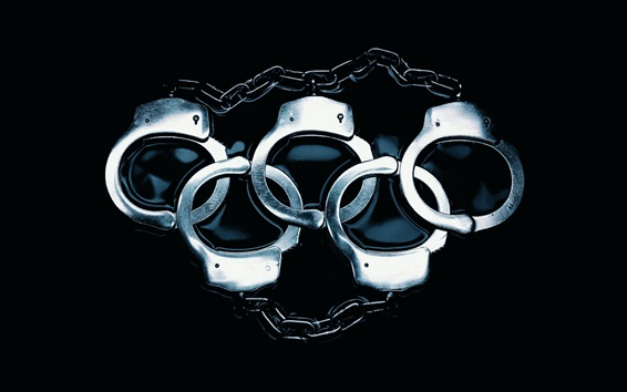 Wallpaper Handcuffs like olympic five rings