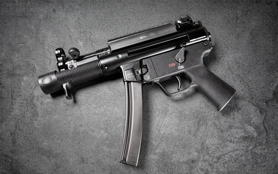 Wallpaper Heckler Koch MP5, modern firearms, guns