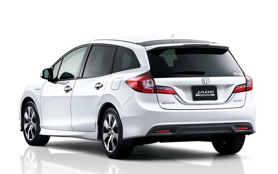 Fondos de pantalla Honda Jade coche híbrido de visión trasera