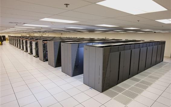 壁紙 IBMのBlue Geneスーパーコンピュータのデータセンター