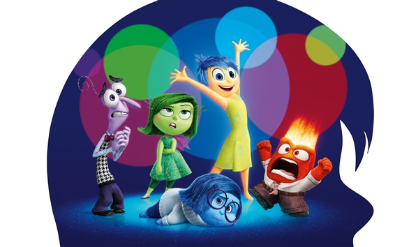 Wallpaper Inside Out, cartoon movie 2015