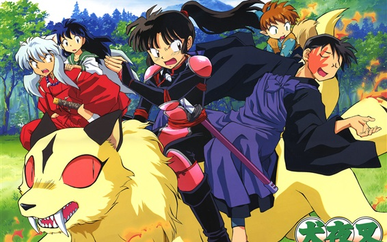 Wallpaper Inuyasha, Japanese anime