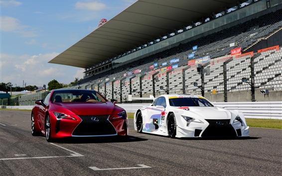 Обои Lexus LC автомобили, красный и белый