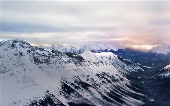 Fond d'écran Parc provincial du mont Assiniboine, Edgewater, Canada, montagnes, neige