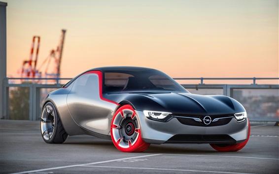 Обои Концепция суперкар вид спереди Opel GT